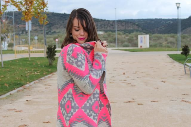 Pink look with Zaful cardigan!