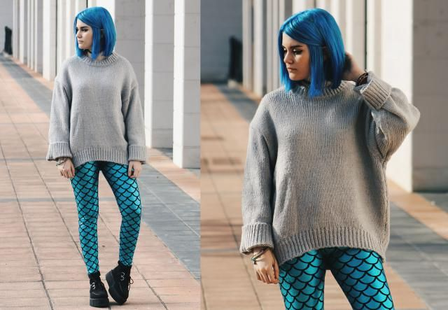 Mermaid outfit ❤ I love so much this leggins!!