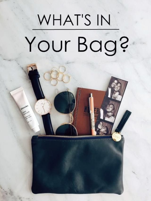 We want to know more about you! Show us the photo of the contents of your bag.  Tell us a bit more about your everyda…