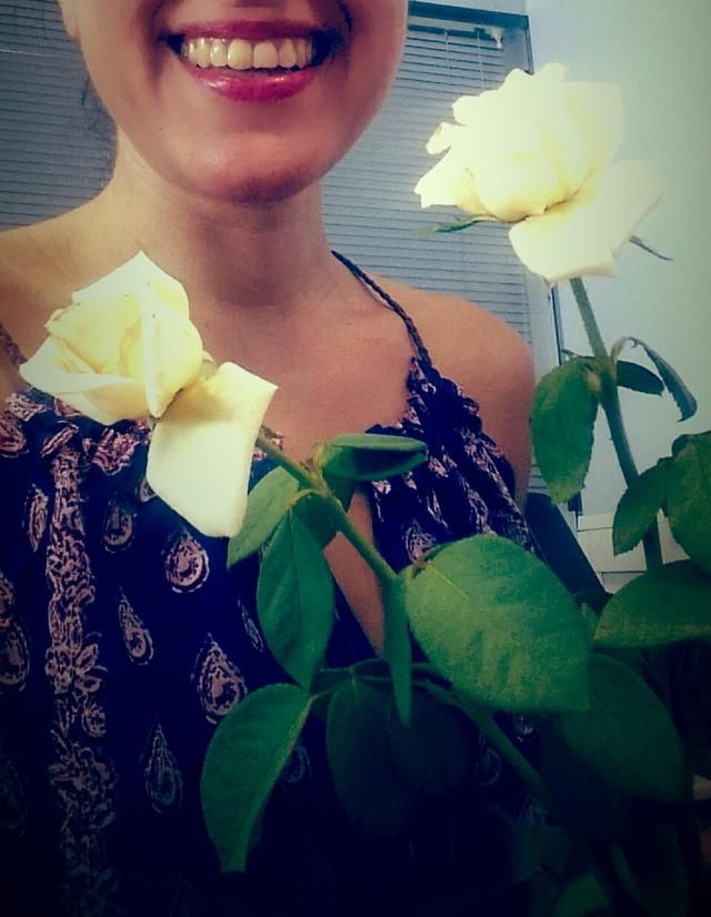 White roses for a dull day