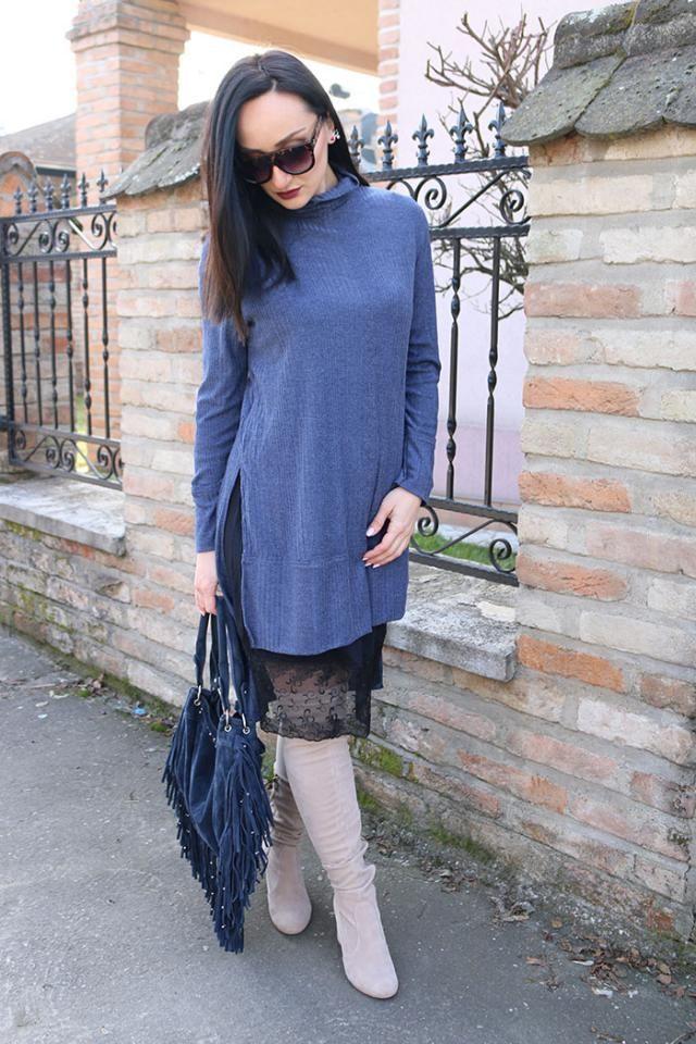 Turtleneck sweater dress from Zaful