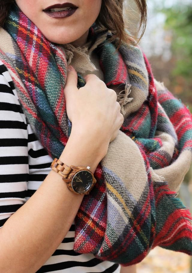 A plaid scarf is the perfect way to keep warm and look put together!