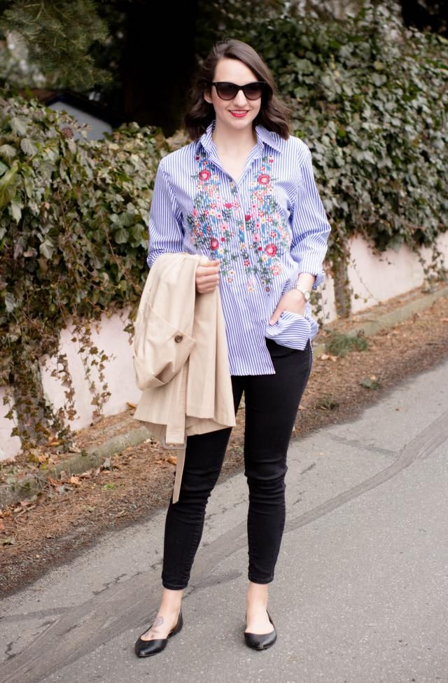 Loving this embroidered button down...I got so many compliments on it! http://countdowntofridayblog.com/2017/02/23/emb…