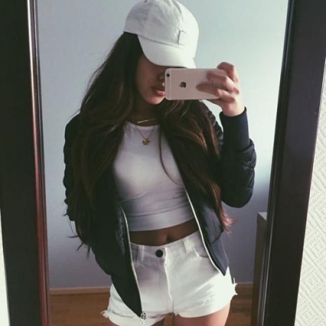 I love bomber jackets and baseball hat ♥♥♥