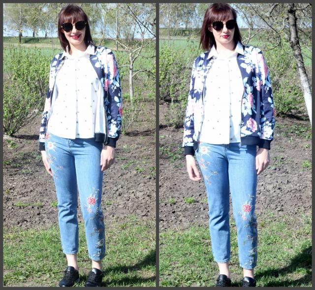# Spring2017, # SuperBowl2017,  ,  , # travel2017 http://www.zaful.com/retro-floral-embroidered-jeans-p_231773.html?lki…