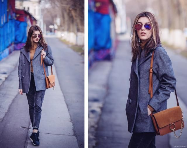 I do really like this outfit all grey!!! Skinny jeans... a nice cardigan ending up with a simple brown bag. Just amaz…