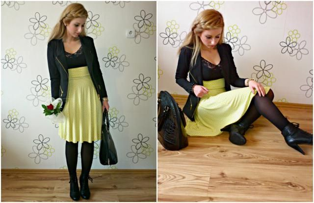 This is a cute look for date. I love this color combination. <3