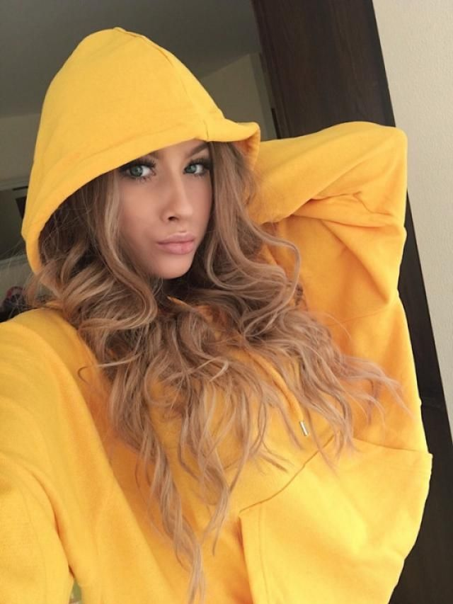 This May a great yellow hoddie jacket is perfect to wear xoxo ^_^