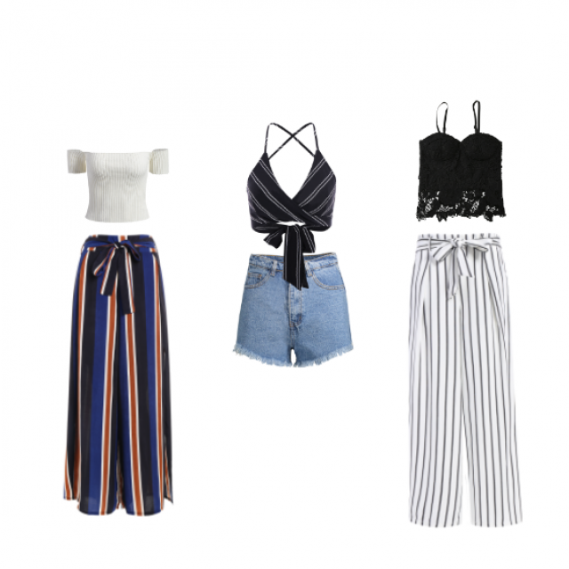 I put together 3 very trendy, cute, fun and classy-ish outfits for this summer!