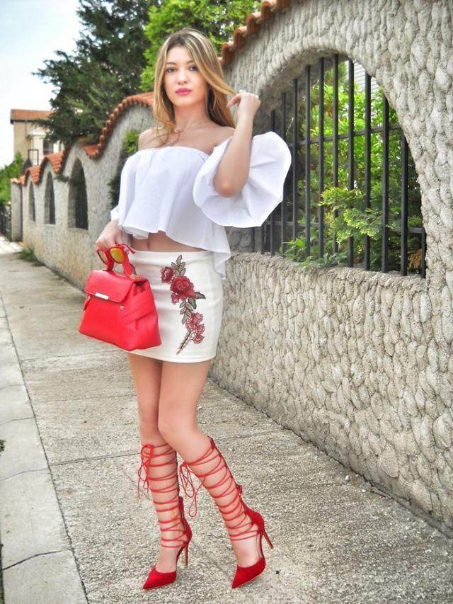 IG: @tijamomcilovic  skirt, top and bag
