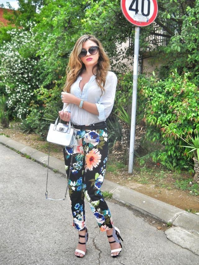 IG: @tijamomcilovic   Floral pants :) Do you like?