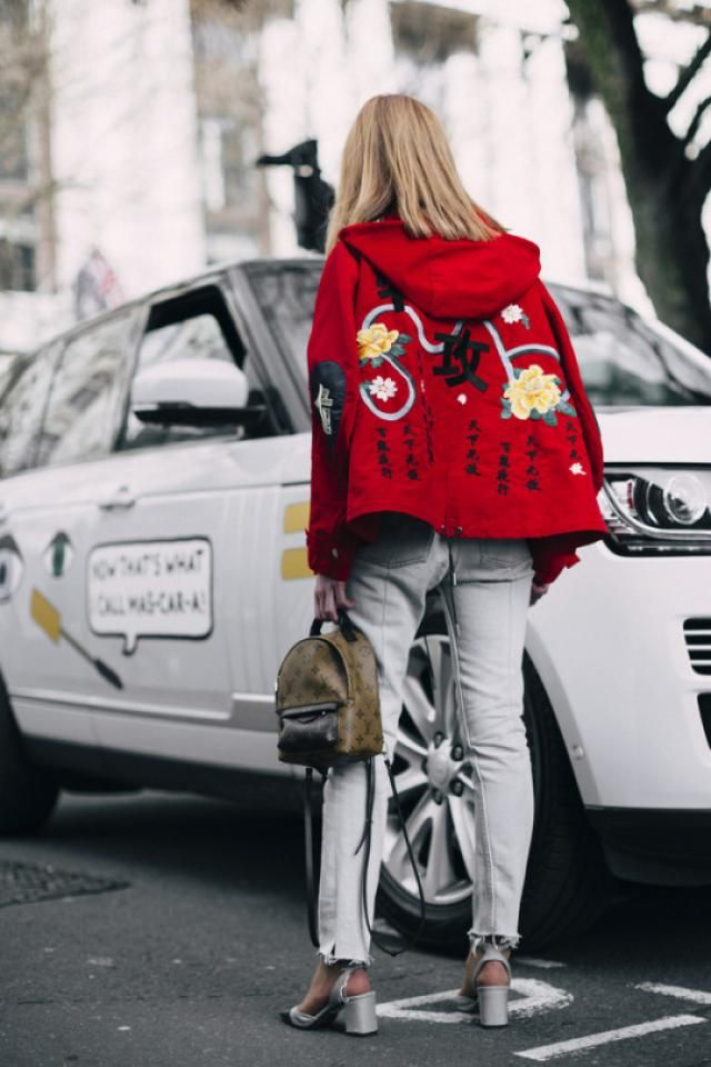 Embroidery Bomber Jacket is still trend, agree?