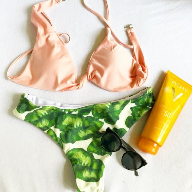 I'm so ready for my LA trip! in love with this jungle bikini from Zaful <3
