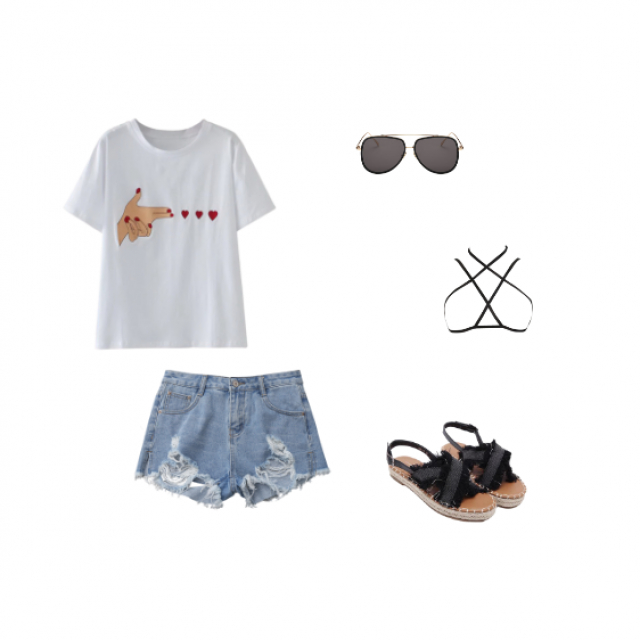 tie up the shirt for a super cute and chill look!