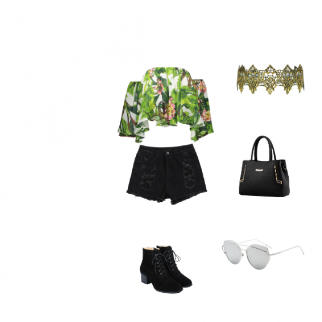 This look give me that jlo vibe from her green dress  and it is so summery and fashionable and comfortable to wear and …