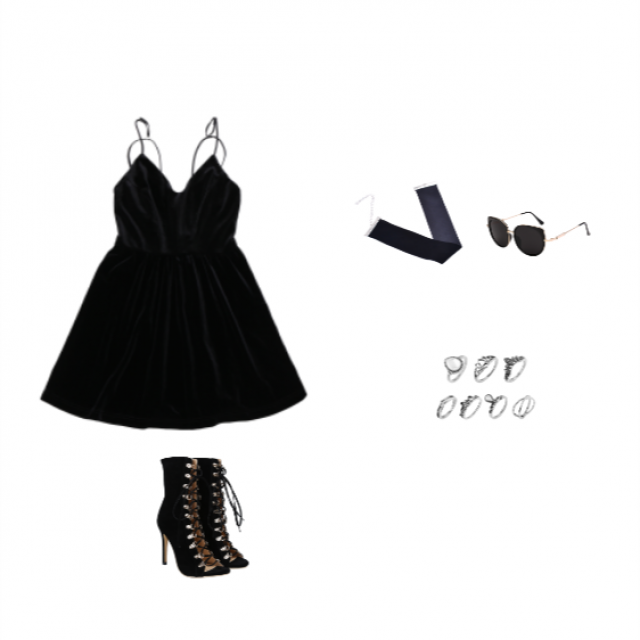 U can never go wrong with a litle black dress, theres a cute outfit idea.