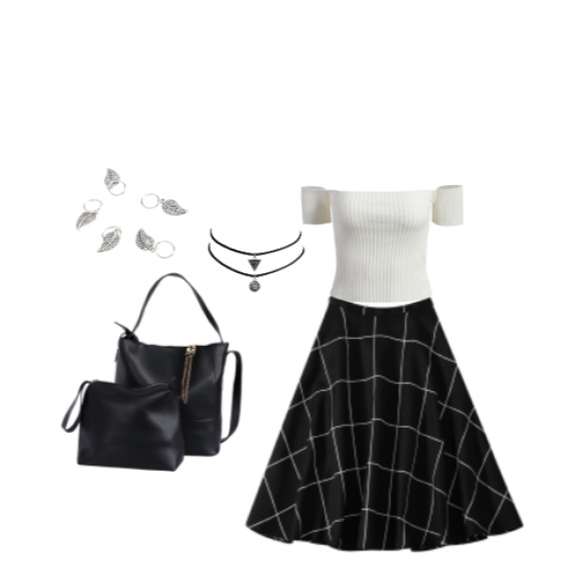 I&;ve been wearing skirts so much latly! This skirt look go beautiful paired with this cute top and some simply jewel…