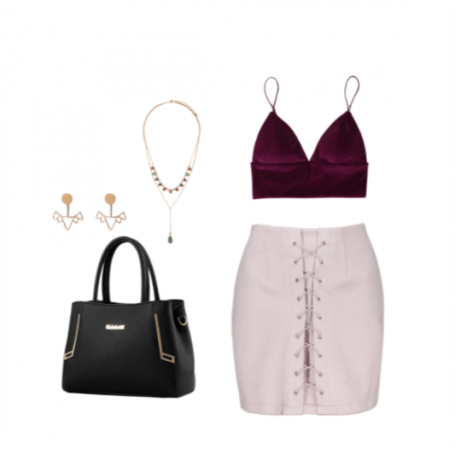 This skirt is super cute and goes so well with this red velvet top. Enjou! And let me know what do you think of this …