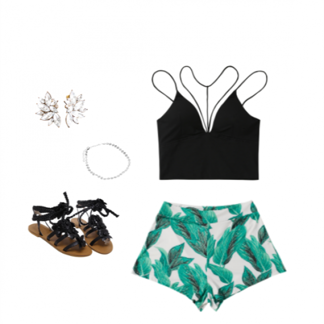 Green is for sure a great colour to pick up for this summer! This pattern in the shorts are to die for, im obcessed! …