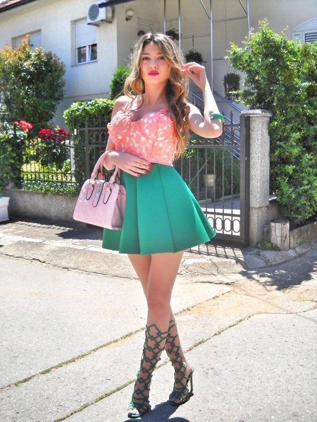 Green and pink        http://itsmetijana.blogspot.rs/