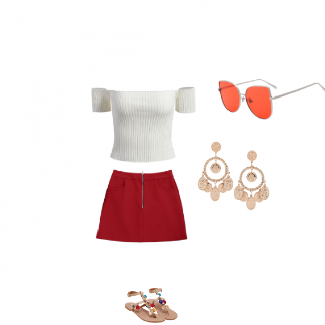 the color red signifies confidence so here is an amazing outfit based around the color red. the next time you have a b…