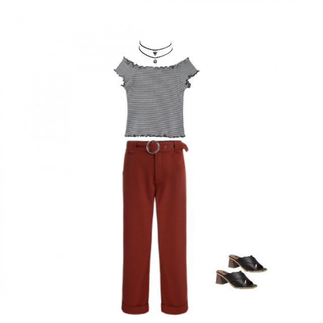 This is a super cute outfit! I recommend, the pants are so comfy.