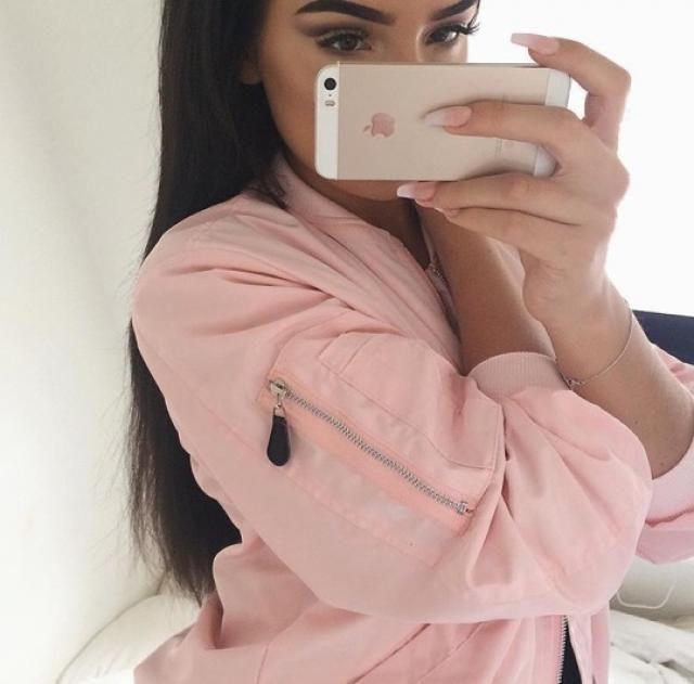 Pink bomber jacket!!