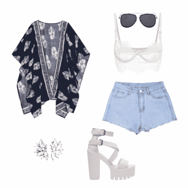 perfect idea for a travel, you can change the bralette for something more close and you have un outfit for a casual din…