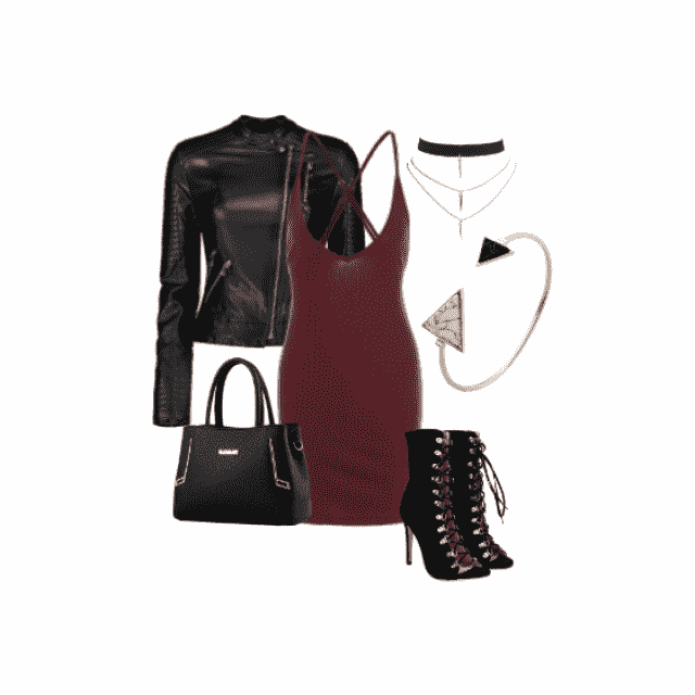 Burgundy Bodycon Dress OOTD