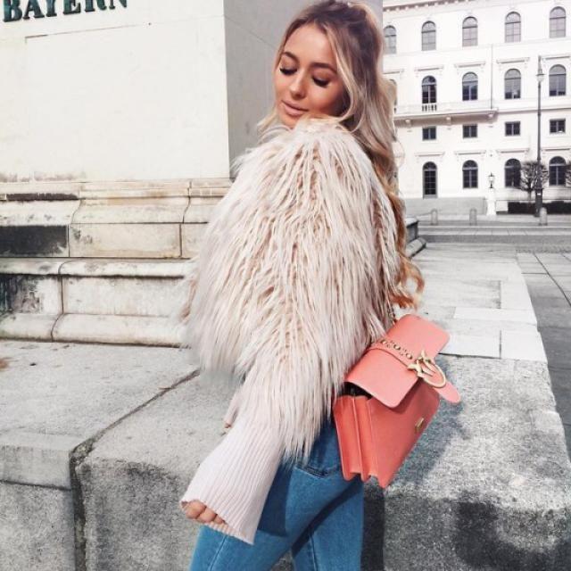 cool faux fur coat! i love it