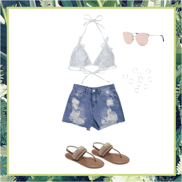 This outfit would be perfect for an outdoor event like Coachella, a carnival or a fair, or just walking around town wit…