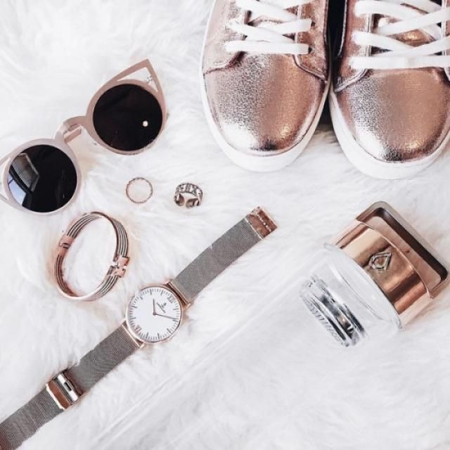 Beautiful rosegold sunglasses!!♥♥
