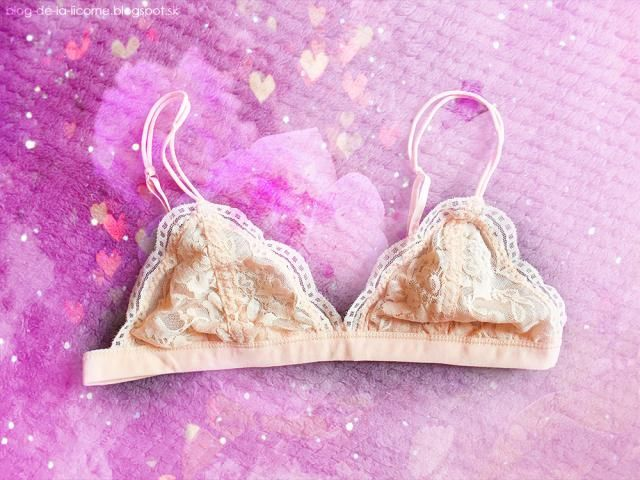 As you can see it´s in a really light peachy colour which looks pretty and romantic. Bra is made from a very light, thi…