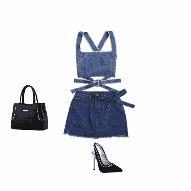 denim on denim is always a  and now that is so trendy you have milions of options, whit the heels and bag is perfect fo…