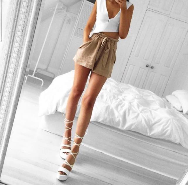Beautiful Khaki shorts!♥♥