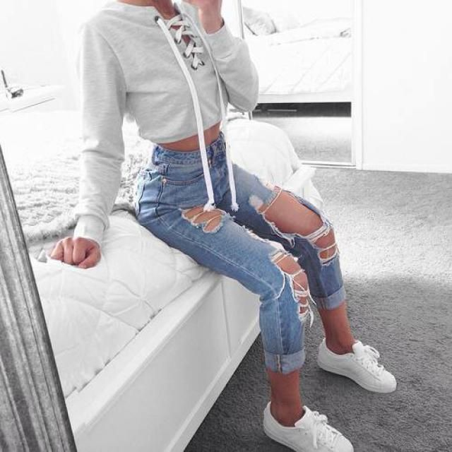 nice lace up sweater to keep you warm ❤️