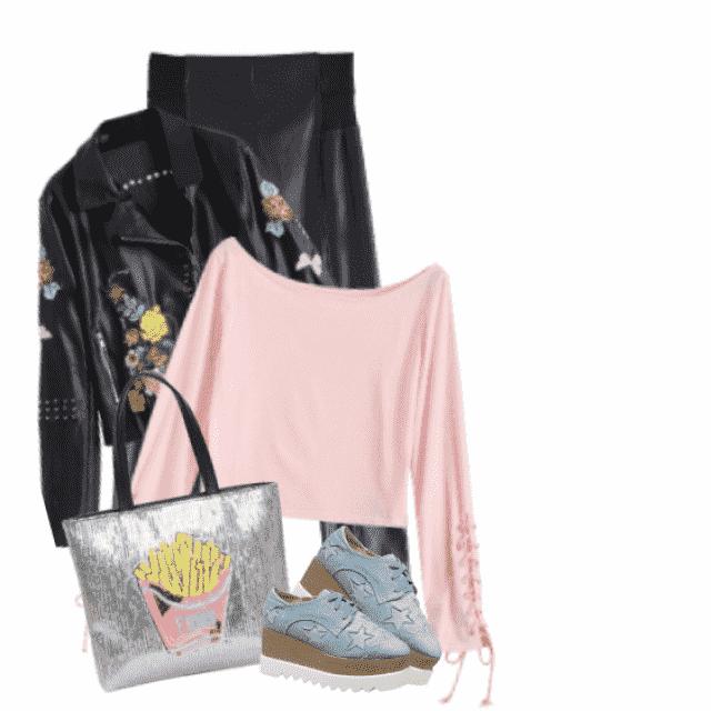 Cool combo - fabulous jacket with flowerprint