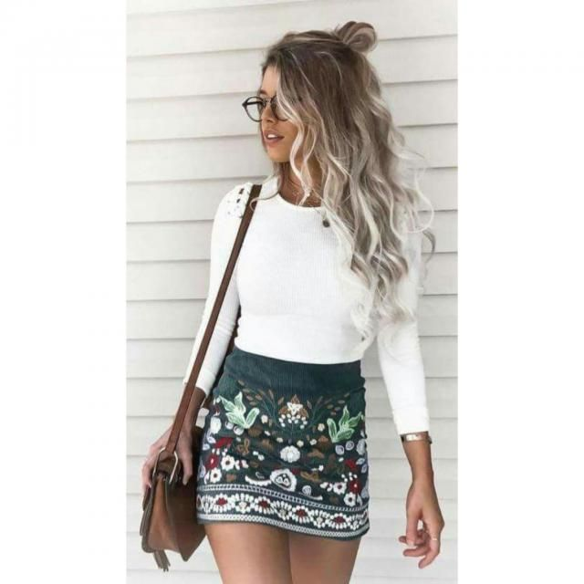 Beautiful embroidered skirt.