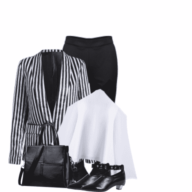A black and white style fits perfect every day. You are perfect dressed with this  combo.