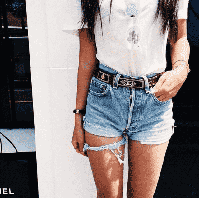 Denim shorts----Today outfit