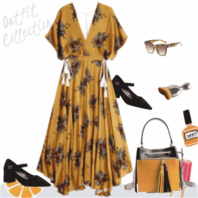 Gorgeous and feminine work outfit for modern and sophisticated woman. The best for transition from Summer …
