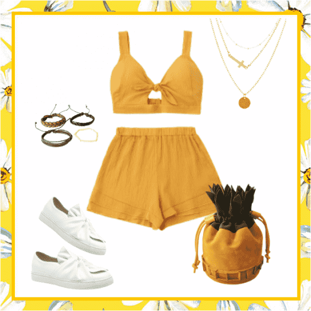Gorgeous outfit for every summer occasion. Cute and adorable look.