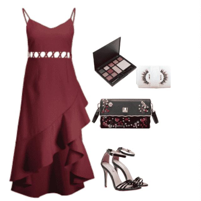 heels      bridemaids style dress