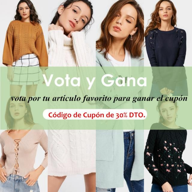 【Vota & Gana】 Vota por tu suéter favorito. El ganador puede obtener un código de cupón de 30% de descuento! 10 af…