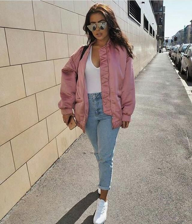 b9696d079da99 34% OFF  2019 Zip Up Floral Patchwork Bomber Jacket In LIGHT PINK ...