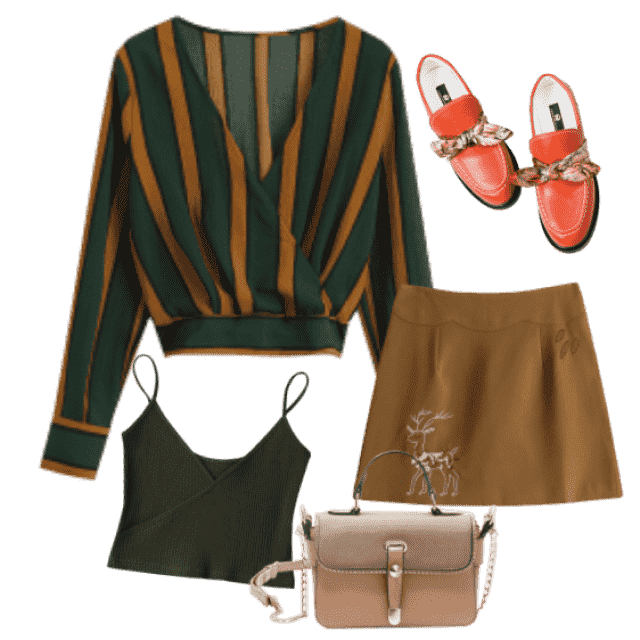 Lovely fashion daily combination made of pieces in autumn colors! Complete mimicry!