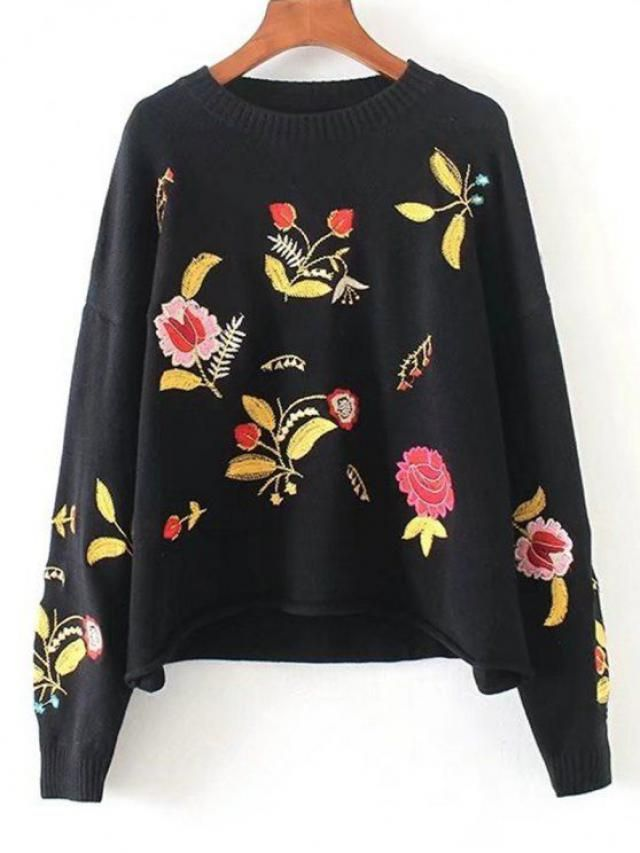 beautiful floral sweater in zaful