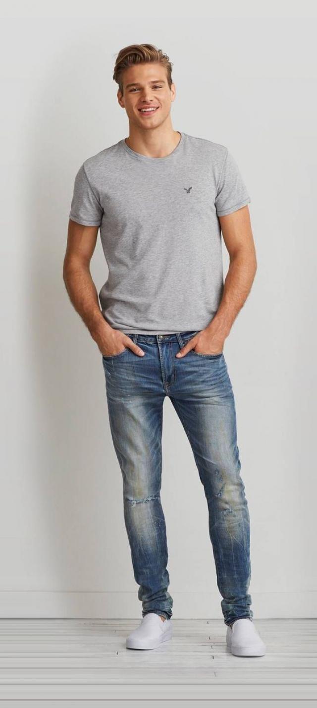Men fashion, perfect jeans!!