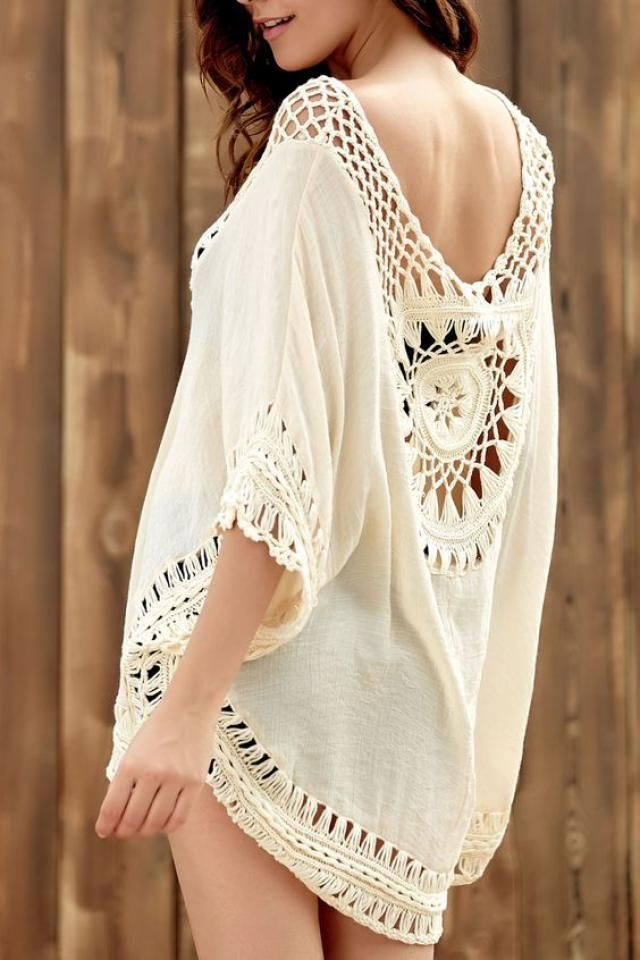 crochet beautiful white shirt