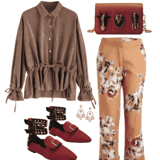 Cute floral printed pants style for cool look!